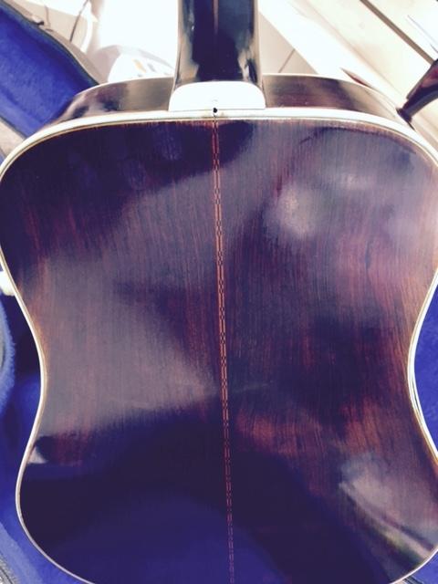 Guitar back before restoration